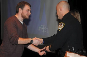 Ben Burke receiving award